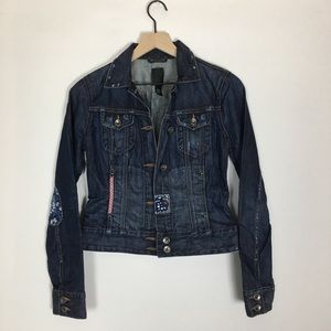 Lucky Brand Adelaide Denim Jacket with Patches
